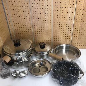 GJ8892 未使用品 Seal-O-Matic ステンレス製 片手鍋 フライパン /両手鍋/他 まとめ 現状品 0805