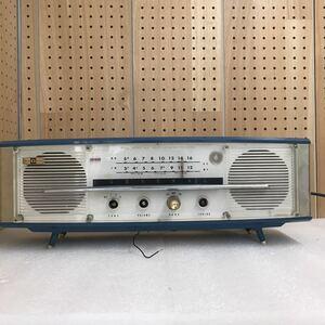 TK1710 八欧電機 真空管ラジオ 6MA 308 昭和レトロ アンティーク MW受信確認済 ボタン欠品 現状品