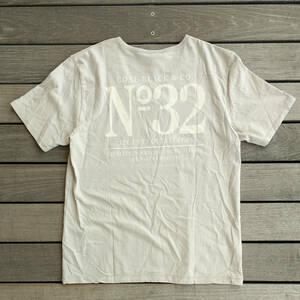 タグ付き COAL BLACK バックプリントTシャツ 定価\8000 Lサイズ グレー コールブラック