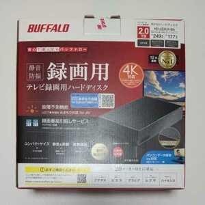 保証有り 未使用 通電のみ BUFFALO バッファロー 外付けハードディスク 2TB HD-LE2U3-BA ブラック