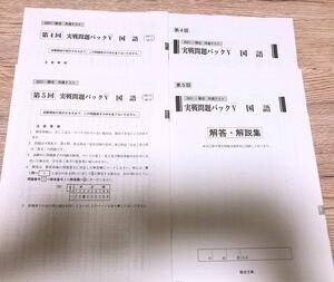 【問題集】駿台 共通テスト 実践問題パックV 国語 2冊セット