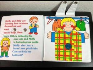 ◆未使用◆プレイブック 幼児絵本 英語 ドレスアップブック 絵本 しつけ
