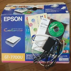 値下げ!CCDセンサ搭載 Win10動作確認済 EPSON GT-7700U 付属品完備 PhotoshopElements付