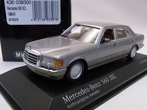 ★レアカラー!★Mercedes-Benz 560SEL antracite/グレーメタリックツートン 1/43【W126 メルセデスベンツ】★検:Sクラス セダン AMG