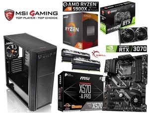 ★最新AMD MSI Ryzen9 5900X/RTX3070/水冷/X570/Mem16GB/M2.SSD 500GB/750W/Win10/Versa H26 限定1台