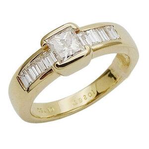ショーメ CHAUMET ジュエリー バケット ダイヤモンド リング 指輪 750YG イエローゴールド 約12号