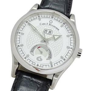カールF.ブヘラ CARL.F.BUCHERER 時計 パワーリザーブ 自動巻き AT ビッグデイト メンズ 裏スケ