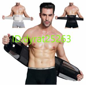 男性用ウエストベルト 腹部脂肪燃焼ガードル ベリーボディスカルプティングシェイパーコルセット カマーバンド おなか痩身ベルト|oO
