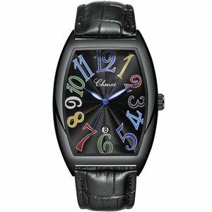メンズ腕時計 ブラック ブラックレザーベルト (フランクミュラー、フランク三浦ではありません)