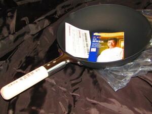送料無料 未使用品 赤坂璃宮 厳選 炒め鍋 フライパン 27cm 専用箱なし 説明書付き 鉄製
