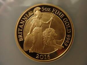 2016 ブリタニア金貨 完全最高品位70 500ポンド及び6枚セット(100,50,25,10,1,50Pの各ポンド)