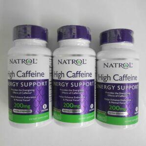 AN21-001 NATROL ナトロール High Caffeine ハイカフェイン 200mg タブレット100粒 3個セット 海外 サプリメント 健康食品