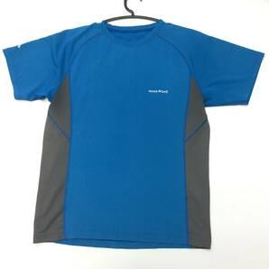 モンベル ウィックロン 半袖 速乾Tシャツ ブルー① 1104791 メンズ