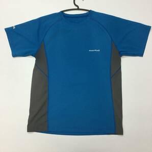モンベル ウィックロン 半袖 速乾Tシャツ ブルー 1104791 メンズ②