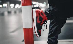 NIKE AIR JORDAN 1 MID BRED 26cm エアジョーダン ブレッド ナイキ エアジョーダン ミッド スニーカー US8 靴 シューズ 赤 RED