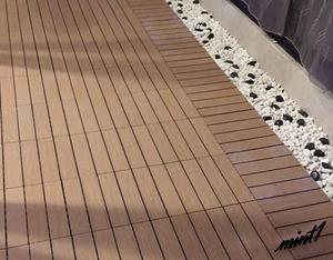 【パズルのようにはめ込むだけ】 ウッドフロアパネル 床材 30×30cm 10枚入り 初心者 簡単 DIY 模様替え 木目調 ベランダ 庭 玄関