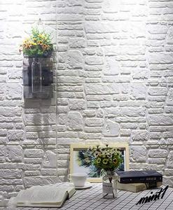 【ヨーロッパテイストの空間に】 3D リメイクシート レンガ調 70cm×70cm 5枚入り 簡単 DIY 模様替え アクセントクロス ホワイト