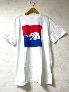 ノースフェイス 半袖 Tシャツ USA BOX TEE ボックスロゴ 白 ホワイト USAモデル Lサイズ(日本サイズXL相当)