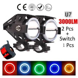 *送料無料*2PCS 125W 12Vオートバイヘッドライト モトスポットライト LED駆動 フォグスポットヘッドライト 装飾ランプ*
