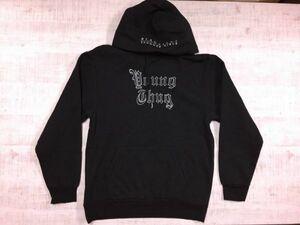 H&M エイチアンドエム ストリート Young Thug ヤングサグ ラッパーコラボ THUGGER GIRLS 長袖スウェットパーカー メンズ 厚手 M 黒