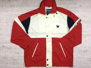 LEYTON HOUSE レイトンハウス レトロスポーツ 配色切替 マルチカラー メッシュ裏地 ブルゾン ジャケット メンズ ナイロン100% M 白 赤 紺