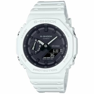 G-SHOCK ブラック 薄型八角形フォルムデジタル・アナログコンビネーションモデル ホワイト メンズ腕時計GA-2100-7AJF 新品国内正規品