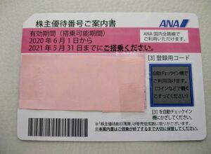 ANA 全日空 株主優待券 コード番号通知 有効期間2021年11月30日まで延長 送料無料