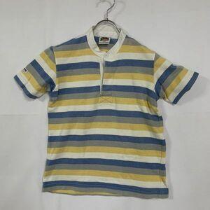 BARBALIAN RUGBY WEAR/バーバリアンラグビーウェア ラガーシャツ 半袖シャツ スタンドカラー 立襟 アイボリー ライトブルー イエロー