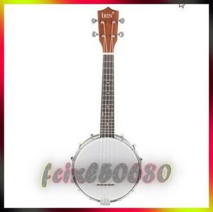 fc△IRIN 23 インチサペレナイロン 4 弦コンサートバンジョー Uke ウクレレストラップギターベースウッドカラーギフト弦楽器