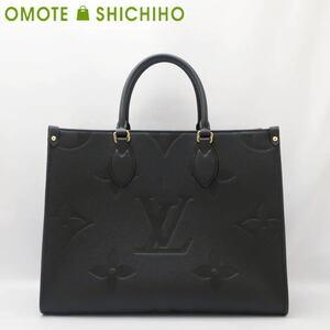 Louis Vuitton ルイヴィトン オンザゴーMM 2WAY ハンドバッグ モノグラムアンプラント ノワール M45595 未使用品◆Nランク【000】