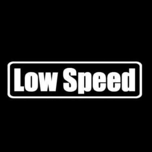 【全13色】カッティングステッカー「LowSpeed」横14cm◆ゆっくり 車 バイク