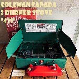 【送料無料】コールマン 431 ツーバーナー 赤タンク コンパクト カナダ製 1980年代製造 ビンテージ ストーブ 2バーナー キャンプ