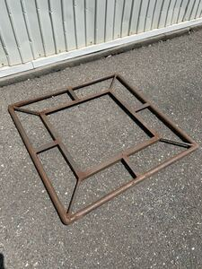 デザインが素敵なアイアン製フェンス? リメイク天板店舗什器インテリアディスプレイ古道具アンティークビンテージインダストリアル工業系