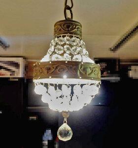ORRB アンティーク調 シャンデリア 直径15cm×高さ28cm 1灯 ◆ LED対応 40W Pochette ポシェット