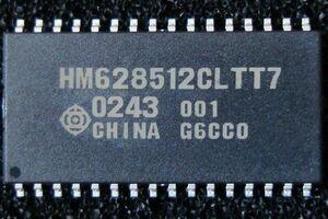 Hitachi 4M SRAM(512kword×8bit) HM628512CLTT-7 тонкий TSOPII новый товар j
