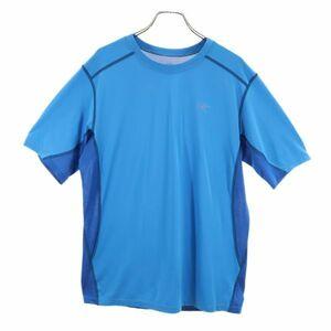 アークテリクス スポーツ トレーニングTシャツ S ブルー系 ARC'TERYX ロゴ メンズ 210805 メール便可