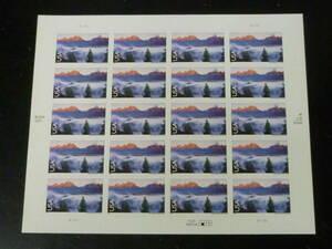 21MI S 米国切手 2009年 SC#C147 アメリカ・シリーズ グランドテートン国立公園(ワイオミング州) 98c 20面シート(シール式) 未使用NH・VF