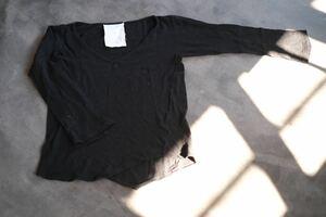 lilis ウール デザイン カットソー M 黒 長袖 シャツ bshop ビショップ lolo バージスブルック ヨウジヤマモト