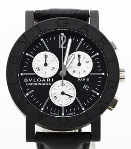 BVLGARI ブルガリ BB38CLCH ブルガリブルガリ クロノグラフ ブラック文字盤 黒 メンズ 腕時計 正規品 稼働品