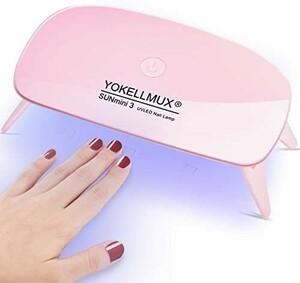 売れ筋商品 _UVライト ジェルネイルライト LEDネイルドライヤー 硬化用ライト タイマー設定 Y13013
