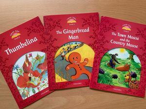 多読に★Oxford Classic Tales Level2 3冊セット おやゆびひめ・ジンジャーブレッドマン他