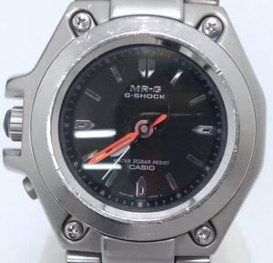 CASIO MR-G MRG-120 クォーツ 腕周り約19cm ブラック文字盤 時計 風防キズ有り ケースキズ有り