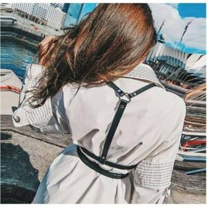 ハーネスベルト サスペンダー 大人気 韓国風 レディース ファッション 小物 ブラック