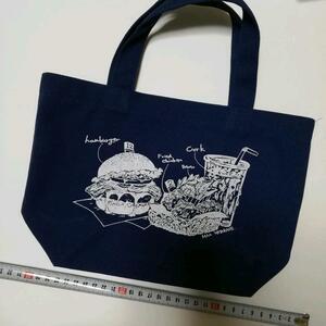 かばん 鞄 バッグ ランチトートバッグ ノベルティ 紺色 青 エコバッグ  トートバッグ 鞄 バッグ エコバ かばん バッグ カバン