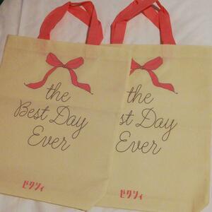 ★折り畳みます★ 2枚 エコバッグ 白色 付録 ゼクシィ エコバッグ 不織布 トートバッグ 鞄 バッグ  かばん バッグ カバン