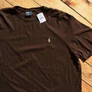 新品 ポロラルフローレン Polo Ralph Lauren Tシャツ メンズ XLサイズ ワンポイントロゴ ポニー刺繍入り アメカジ タグ付き未使用品 T1089
