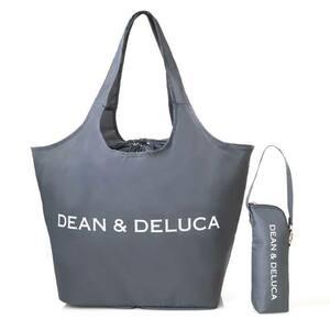 GLOW グロー DEAN&DELUCA ディーン&デルーカ レジかご買物バッグ&保冷ボトルケース 付録 チャコールグレー エコバッグ