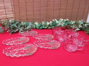 8M4751  SOGA ソガ ガラス  ガラス食器・小皿&ティーカップ まとめてセット