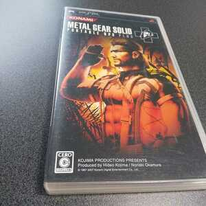 PSP【メタルギアソリッド/ポータブルOPSプラス】2007年コナミ [送料無料]返金保証あり