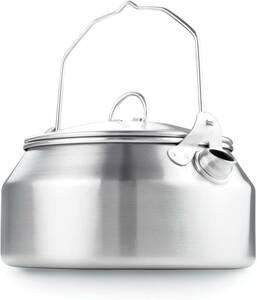 【送料無料】GSI グレイシャー ステンレスケトル 1.0L キャンプ アウトドア 調理器具 やかん ソロキャンプ BBQ